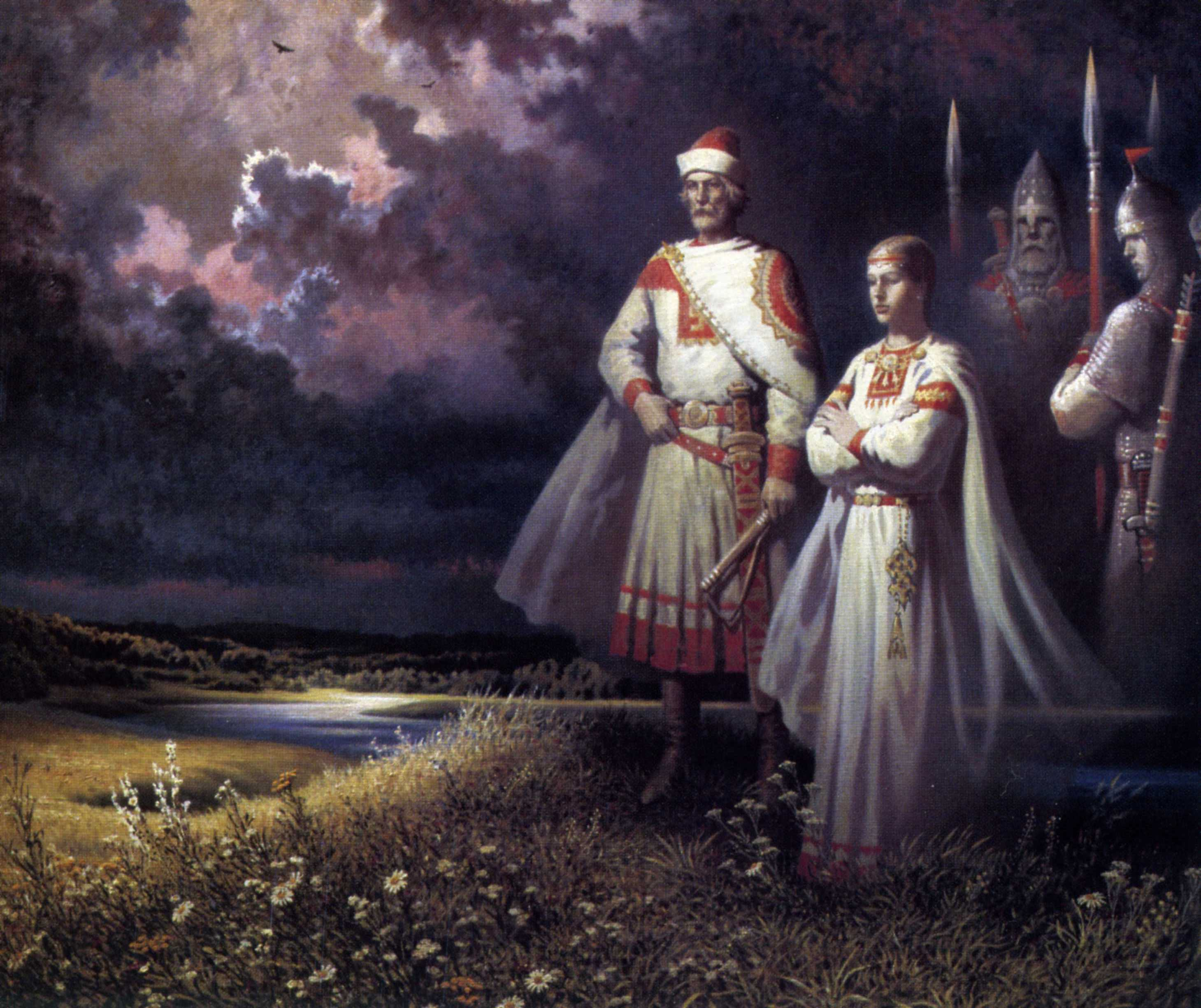 Киевский князь Игорь и его жена, княгиня Ольга